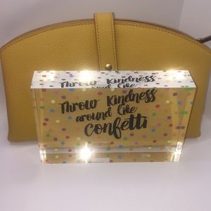 Yellow Pebbled Mini Clutch/Wallet